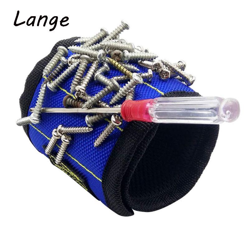 Lange A28 Strong Magnetic Wristband Pocket Wrist Support Tool Bag