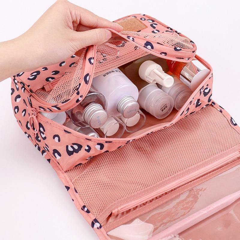 Portable Travel Hook Multifunction makeup bag Large Capacity Storage Bag Waterproof Wash Cosmetic Bag Fashion Travel Accessories