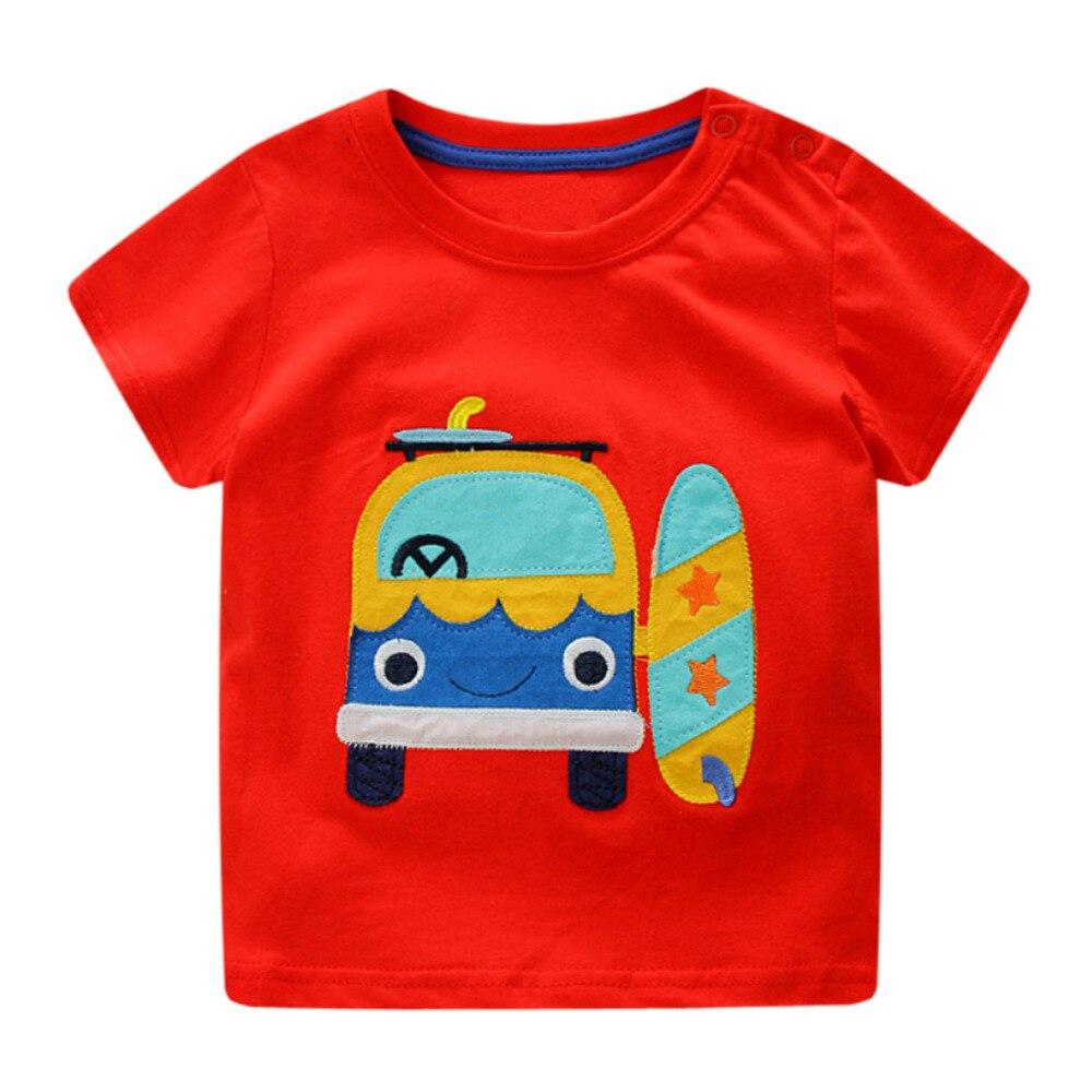 Boys Baby Topy Koszulki z krótkim rękawem T-shirt motoryzacyjny - Ubrania dziecięce - Zdjęcie 2