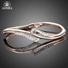 Azora tb0005 stellux de cristal austriaco pulsera brazalete de oro rosa de color