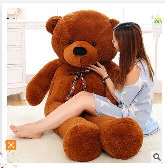 stuffed toy silk belt teddy bear plush toy bear doll hugging pillow toy gift w3919 stuffed animal 44 cm plush standing cow toy simulation dairy cattle doll great gift w501