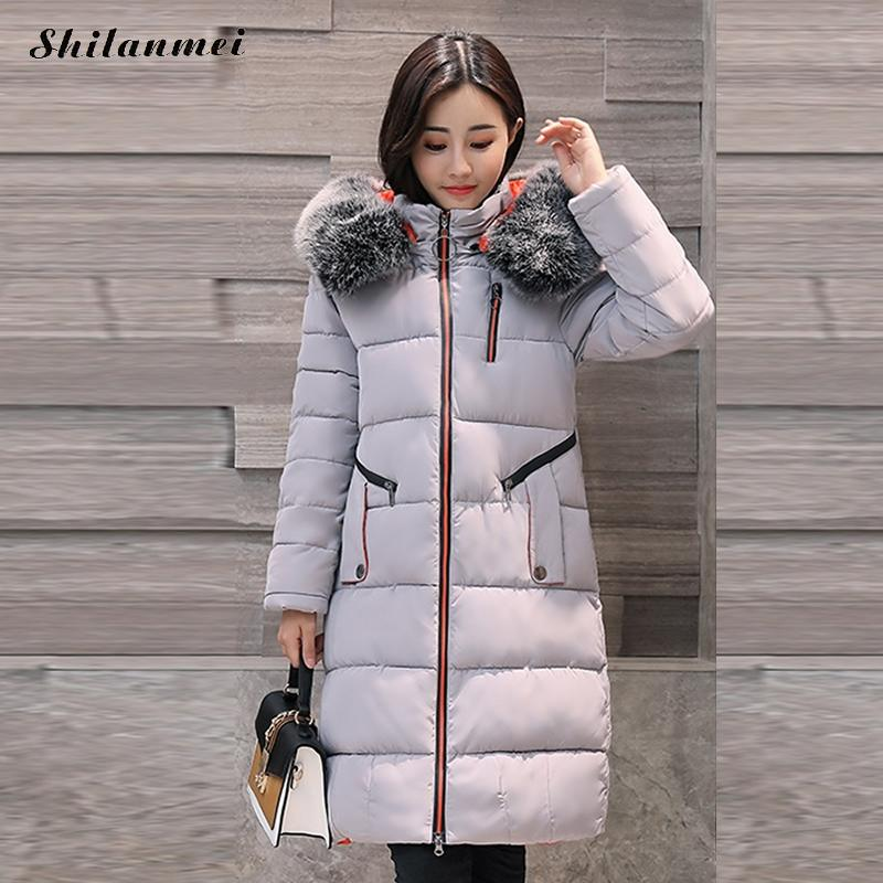 Parkas with Fur Hat Black Gray Female Jacket Women Hooded Collar Zipper Wine Red Army Green Winter Coat Casual Women's Outerwear army green winter thick military coat army green female hooded jacket parkas outerwear fur collar women coat