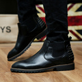 Leather Boots For Men Brand Quality Dress Shoes Casual Ankle Boots Autumn Fashion Design Pointed Toe Footwear Botas Brown