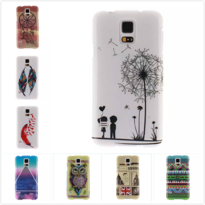 Cartoon High Quality Glossy Soft TPU Case Silicon Protector Back Cover Owl Phone Cases For Samsung Galaxy S5 i9600 9600