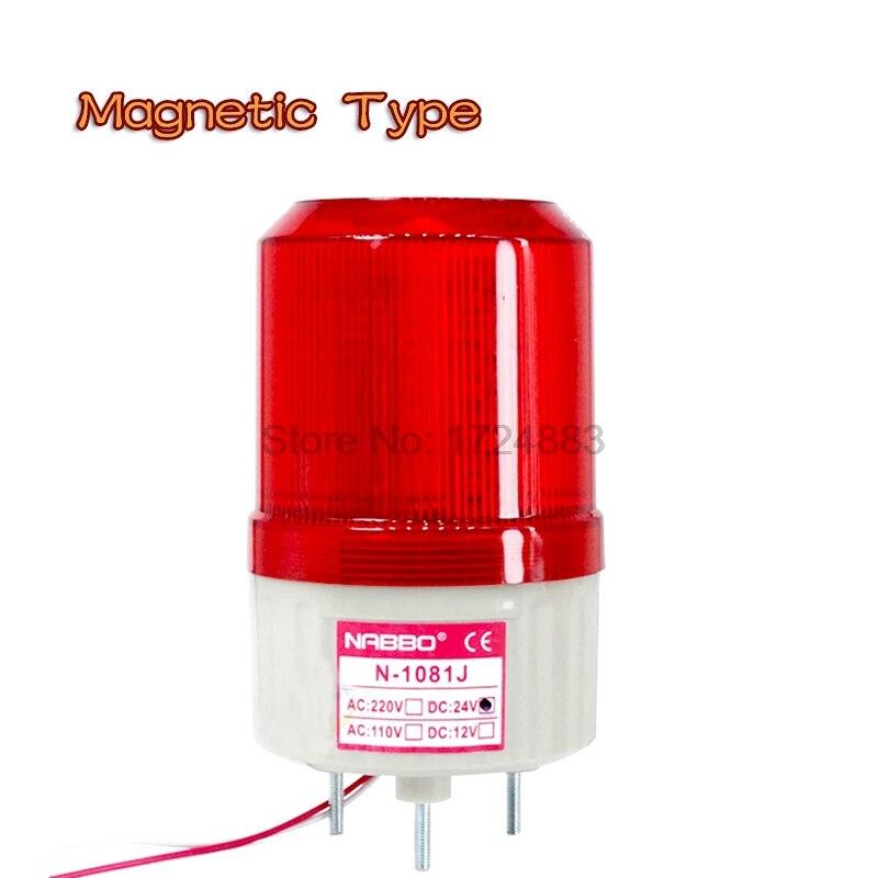 цена на Magnetic Rolling Strobe Signal Warning light N-1081T 12V 24V 220V Indicator light LED Lamp small Flashing Light Security Alarm
