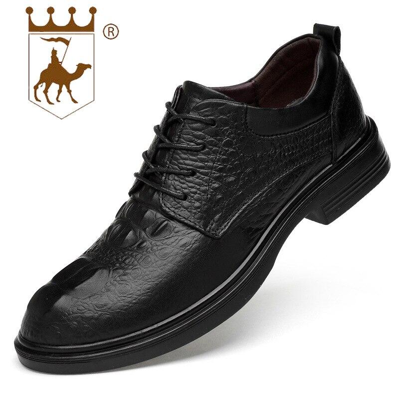 Tamaño Zapatos Capa Black Casuales De Primavera Salvaje Nuevos Negocios Alta Gran Hombres Vaca Cocodrilo Piel Primera Backcamel2019 Cuero Patrón qwUOYcAUn