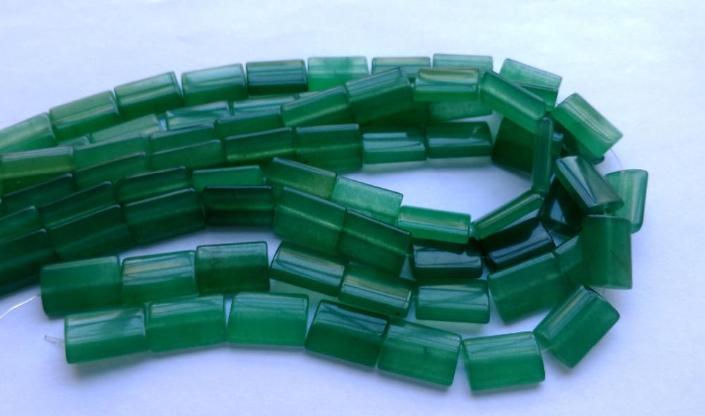 Камень зелёный авантюрин Бусины для ювелирных изделий 13x18 мм Прямоугольник драгоценного камня Модные Украшения Бусы 40 см/string