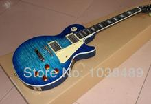 Klassische e-gitarre plus gute Manhattan dunkelblau flamme Lieferung ist freies verschiffen