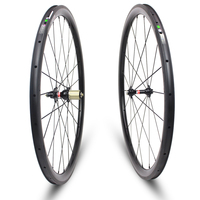 YUAN'AN 38*25mm New product clincher used carbon wheels bicycle campa front and rear ruote carbonio 700c carbon wheelset