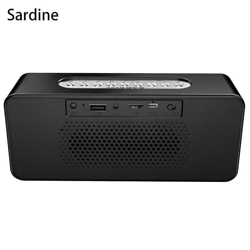 Оригинальный Sardine портативный Bluetooth динамик будильник 3D стерео портативный стерео сабвуфер HiFi динамик Поддержка TF/FM радио/AUX
