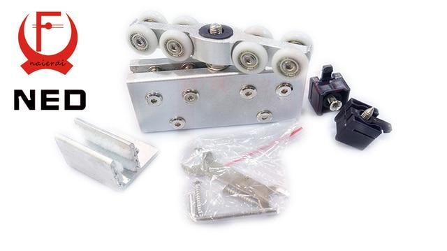 Douche Schuifdeur Rollers : Ned paar set glazen schuifdeur rollers hangers opknoping