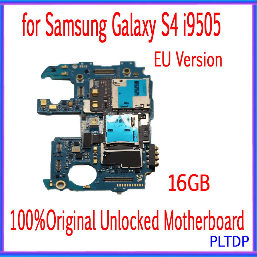 Original unlocked For <font><b>Samsung</b></font> <font><b>Galaxy</b></font> <font><b>S4</b></font> i9505 Motherboard with OS System,16GB Mainboard for i9505 Logic <font><b>board</b></font> with Full Chips image