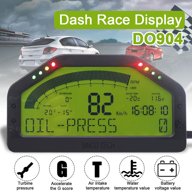 New Waterproof 9000rpm Dash Race Display Full Sensor Kit Dashboard LCD  Screen Rally Gauge With bluetooth Function