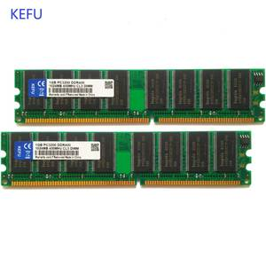 2 GB 2X1 GB DDR 400 400 MHz PC3200 184pin Non-ECC Desktop DIMM Memory RAMs