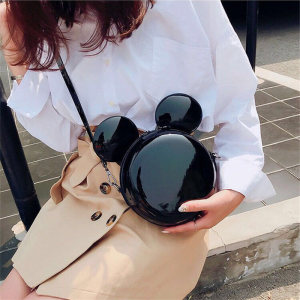 Image 4 - New Fashion Design Women Mickey Shaped Bag Cute Funny Women Evening Bag Clutch Purse Chain Shoulder Bag for Birthday Gift