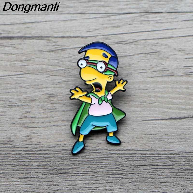 L3576 Anime Esmalte Pin Broches Criativa Dos Desenhos Animados Chapéu Denim Crachá Broche de Metal Pinos Jóias Collar 1pcs