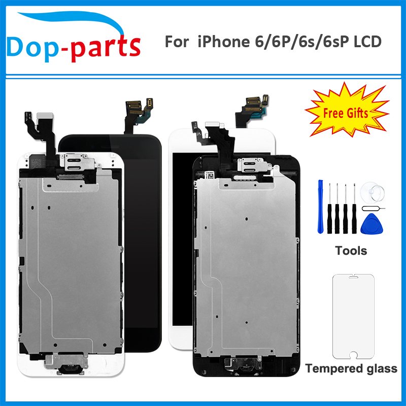 Full Set LCD Assembly For iPhone 6 / 6P / 6S / 6S Plus OEM Display with Home Button Front Camera Speaker Digitzer Touch Screen image