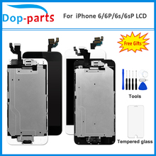 Ensemble complet LCD pour iPhone 6/6 P/6 S/6 S Plus affichage OEM avec bouton daccueil avant caméra haut parleur numérique écran tactile