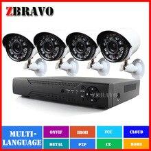 4CH системы видеонаблюдения 720 P микро-hdmi ахд видеонаблюдения DVR 4 шт. 1.0MP ик открытый камеры безопасности ахд AHDM DVR Kit 1200TVL система видеонаблюдения