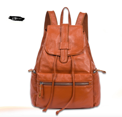 ФОТО New Women's Genuine Leather Backpack Cowhide Student's School Backpack Travel Bag Free Shipping