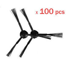 100 Piece 50 Left 50 Right Side Brush for Ecovacs Mirror CR120 Dibea X500 Robotic Cleaner