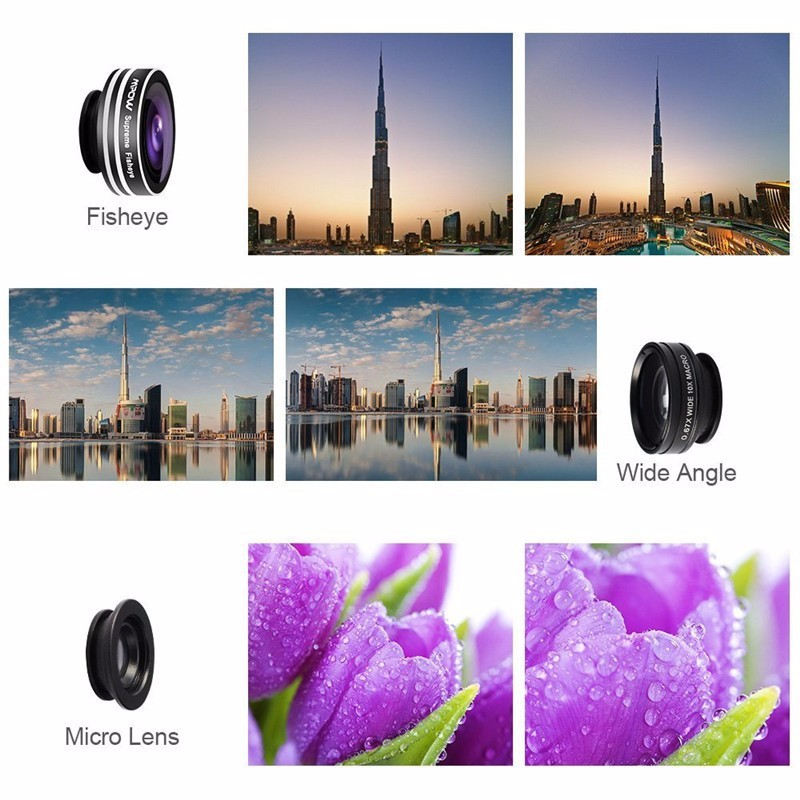 KHP 3 In 1 Universal Phone Lens Clip camera Mobile Phone Lenses For iphone 4 4S 5 5S 6 6S Samsung Galaxy S5 Fish Eye+Macro+Wide 9