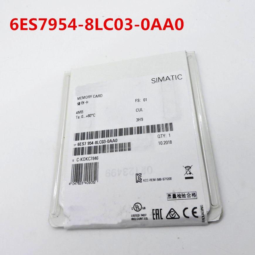 100 Originla New 2 years warranty 6ES7954 8LC03 0AA0 S7 1200 1500 memory card 4MB 6ES7