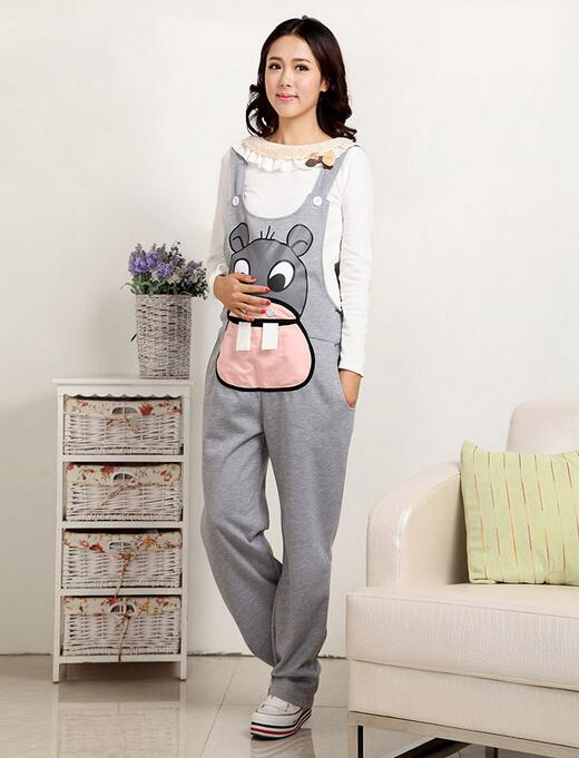 Hot sales 2017 New Spring and Autumn Maternity Clothing Maternity Pants Hippo Bib Pants For Women Pregnant Overalls Pants
