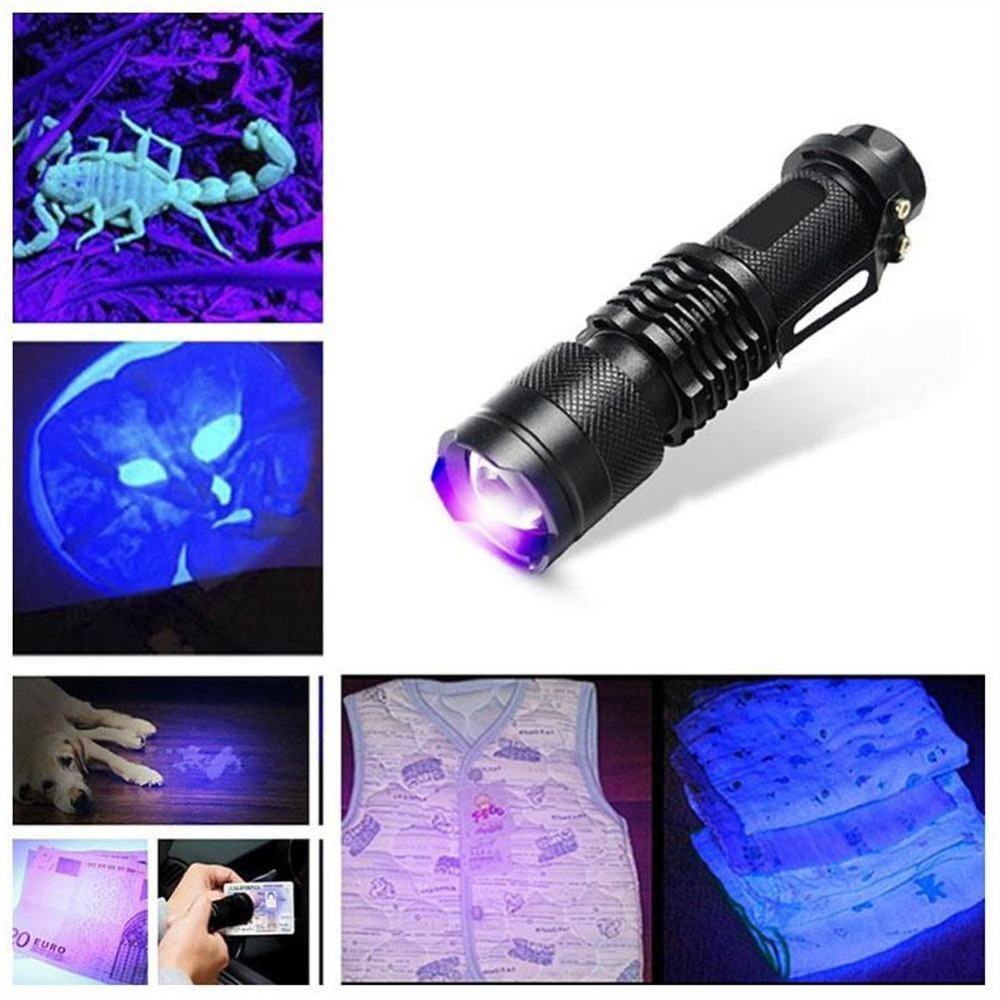 Ultra Violet Light With Zoom Function Mini UV Pet Urine Stains Detector  Straight Tube Purple Light Glare Flashlight Ultra Violet Light With Zoom Function Mini UV Pet Urine Stains Detector  Straight Tube Purple Light Glare Flashlight