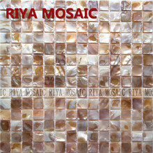 Free Shipping RIYA Shell Mosaic Mother of Pearl Natural Colorful Kitchen Backsplash Wall Tile Bathroom Background  33pcs/lot