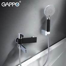 GAPPO shower faucets black and chrome wall bathroom faucet mixer taps brass rainfall bathtub