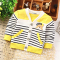 2016 Hot sales Autumn New style Baby Boys Coat Clothes cotton printing striped Casual baby clothes