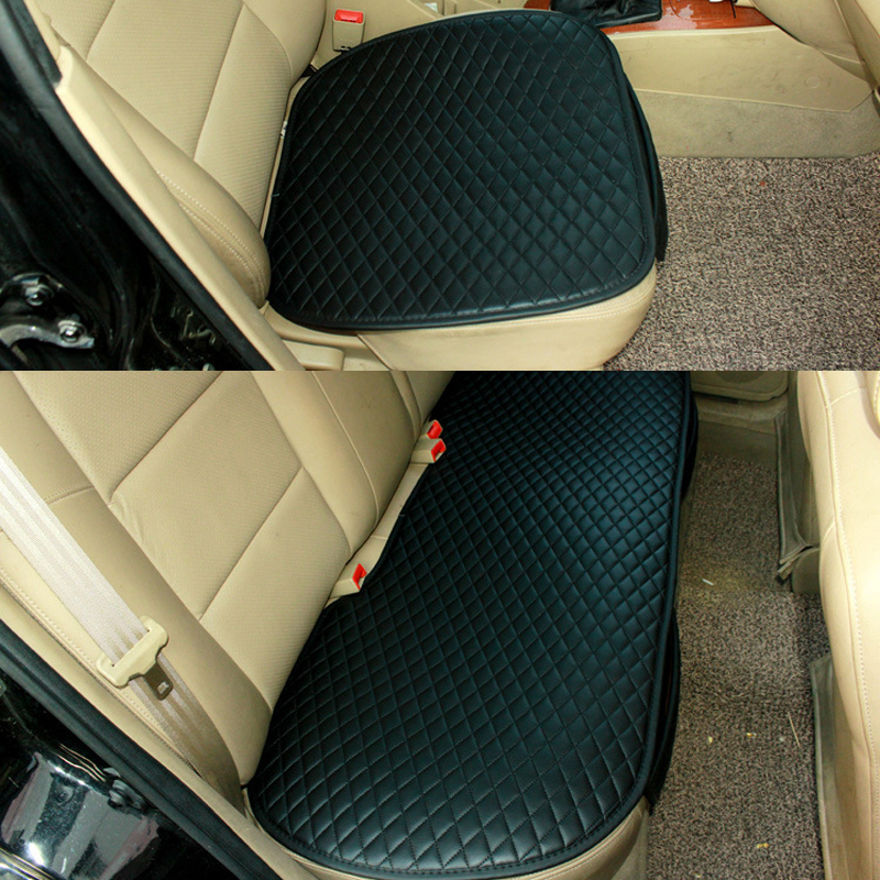 Universal Leather font b Car b font Seat Cover Front Backseat Rear Cushion Waterproof Protector Pad