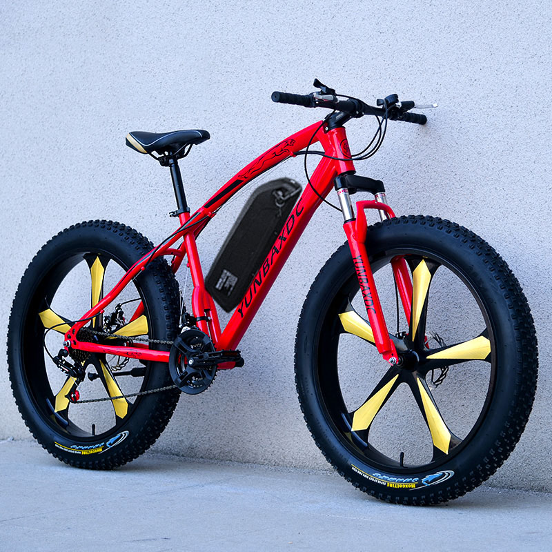 26inch snow electric mountain bicycle 48V lithium battery 1000w motor fat ebike 4.0 tires  high speed brushless electric bike 3