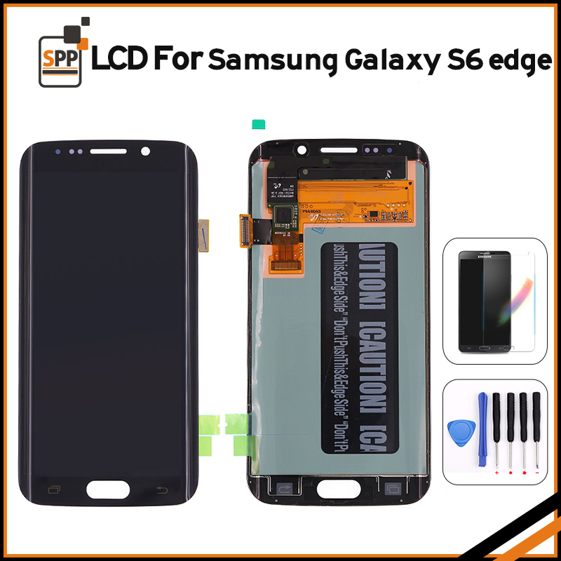 Orignal LCD screen for Samsung Galaxy S6 Edge G925 G925F G925V G925P G925A G925T AMOLED display touch digitizer glass assembly