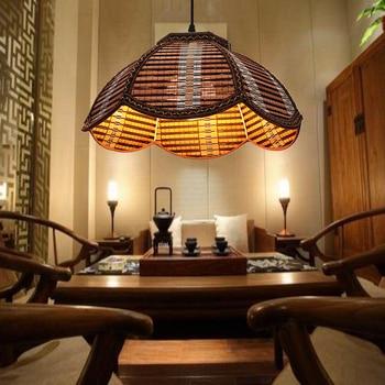 chandelier simple Creative  Bamboo Southeast Asian lamp restaurants Nongjiale bamboo Zen tea garden lamp fish shop ZH