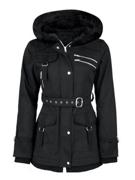 Black  Coats Women Casual Hooded Jacket Coat Fashion Simple High Street Slim 2018 Winter Warm Thicken Basic Tops Female
