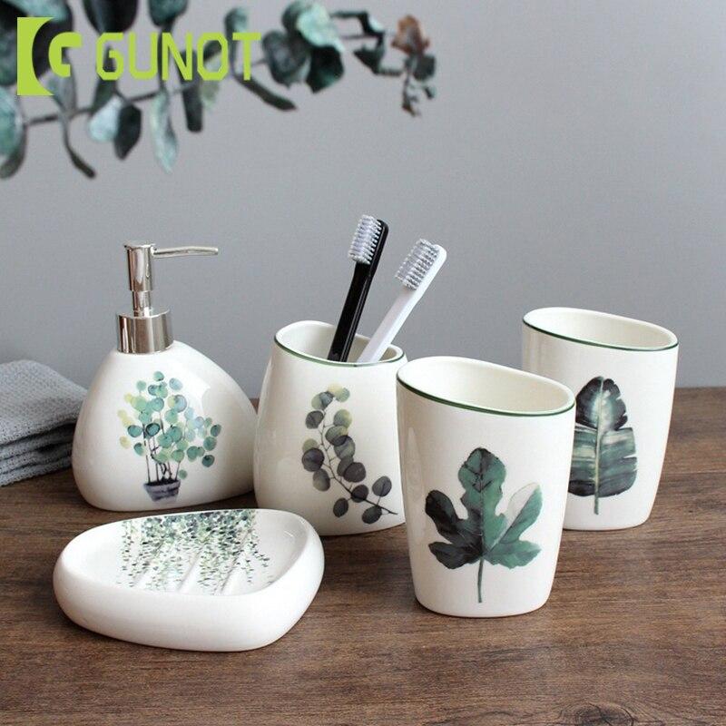 Ceramic Bathroom Set Soap Dispenser