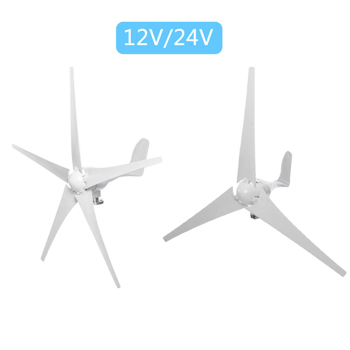 Générateur de Turbines d'énergie éolienne d'option de pales de vent de 9000W 12V 24V 3/5 avec le contrôleur de Charge imperméable adapté à la maison ou au Camping