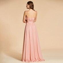 فستان سهرة أنيق بدون أكمام مزين بالورود على الصدر
