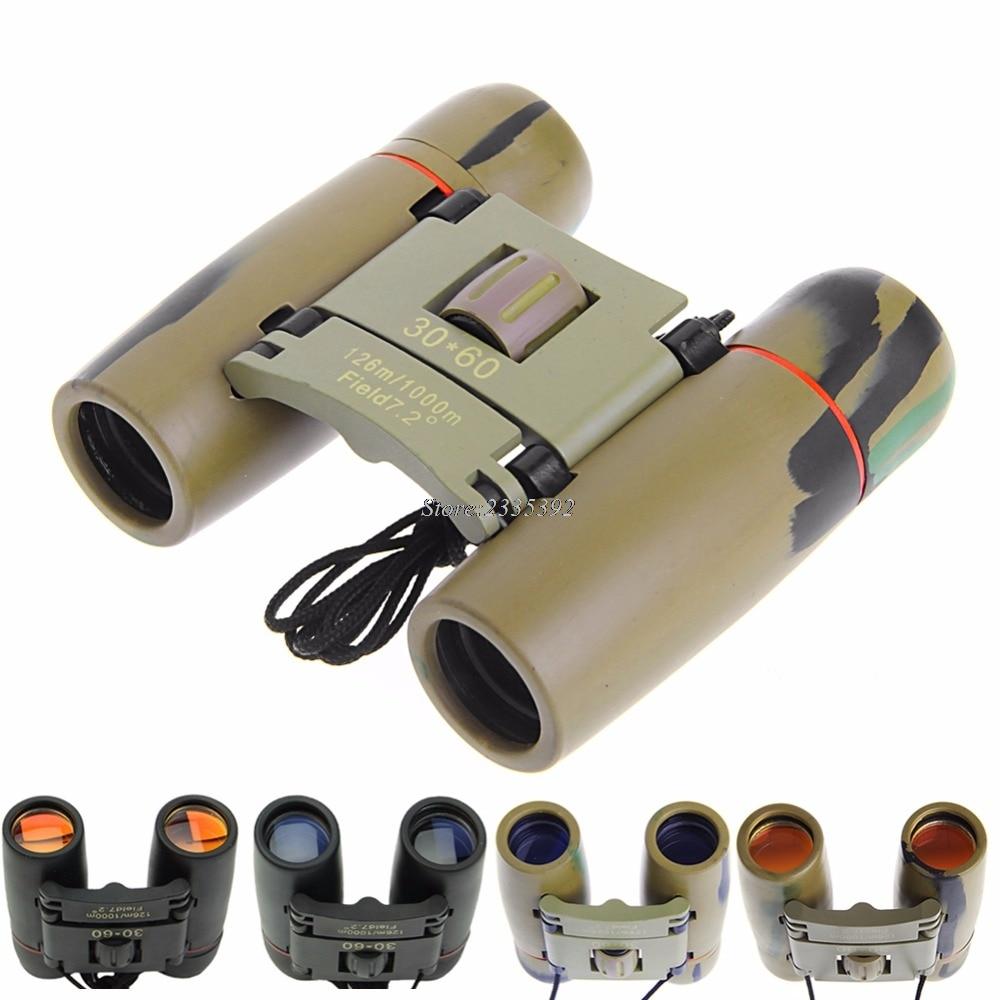 Day Night Vision 30 x 60 Zoom Outdoor Travel Folding Binoculars Telescope+Case #A стоимость