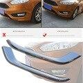 2 PCS DIY styling ABS Cromado de nevoeiro Da Frente Do Carro Decorativo luz Adesivo Cobrir Caso adesivos Para Ford Focus 2015 acessórios parte