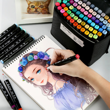 DUGUO 7th generation Oily alcohol based markers Art Marker Painting Set Student Hand-painted School Office Supplies