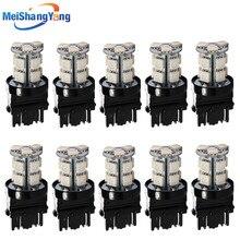 цена на 10pcs 3156 3157 White /Red /Amber / Yellow 13 SMD 5050 Stop Tail Brake Signal T25 12V 13 LED Car Light Bulb  Car Light Source