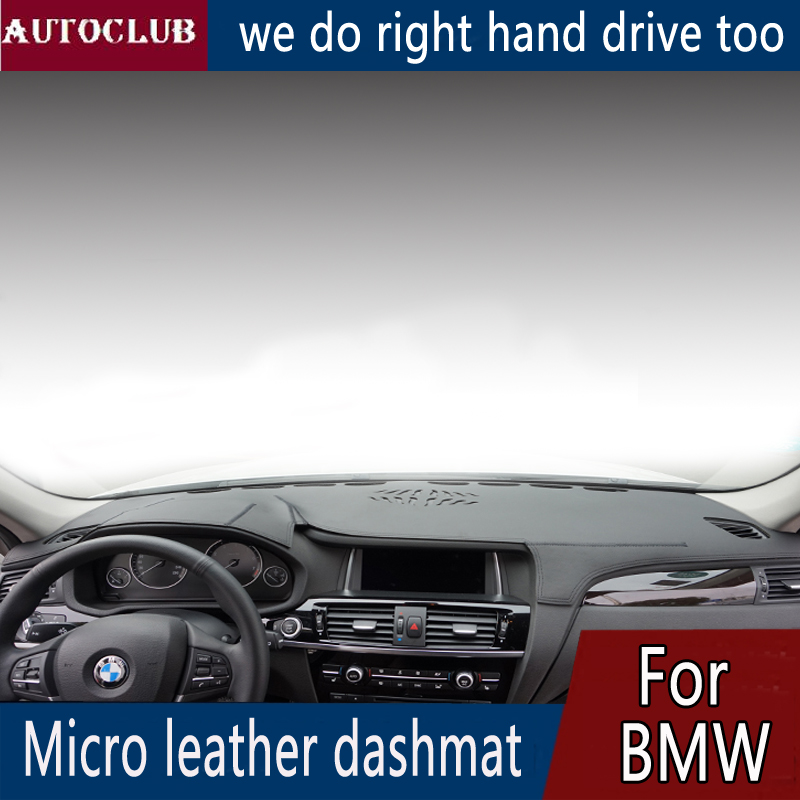 For BMW X3 X4 E83 F25 F26 Leather Dashmat Dashboard Cover