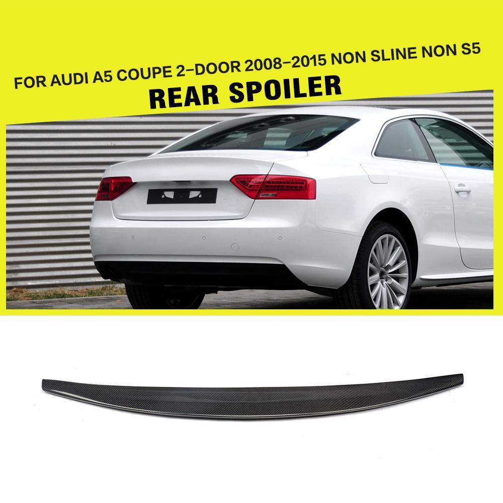 Car Styling Carbon Fiber Rear Trunk Boot Spoiler Wing Lip