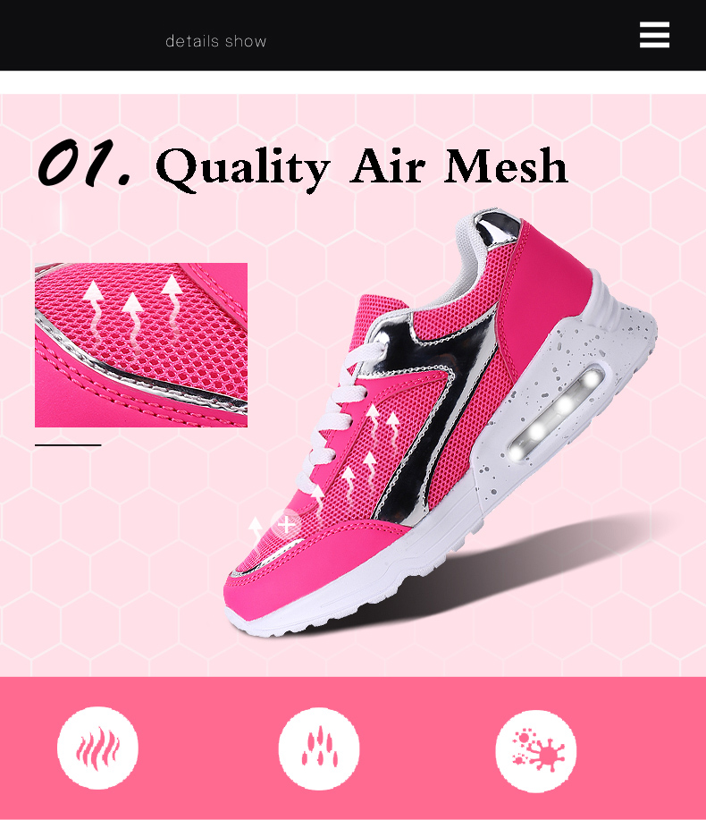Air Mesh Women Casual Shoes Fashion Lace Up Shallow Shoes Woman Flat Heel Sport Trainers Size 35-40 Quality Walking Shoes ZD30 (4)