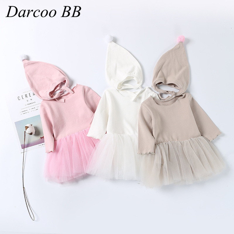 Girls Clothing Princess-Dresses Long-Sleeve Infant Baby Kids Cotton Children 0-24M Newborn