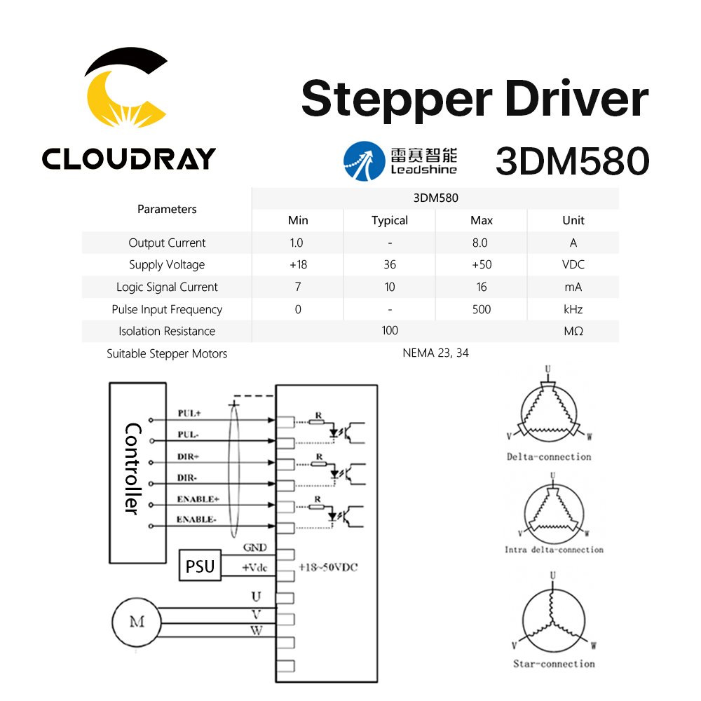 aliexpress com buy cloudray leadshine 3 phase 3dm580 stepper motor rh aliexpress com