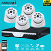 NEW 4ch Full HD Super 4MP CCTV Surveillance Kit DVR Video Recorder AHD Array Indoor White